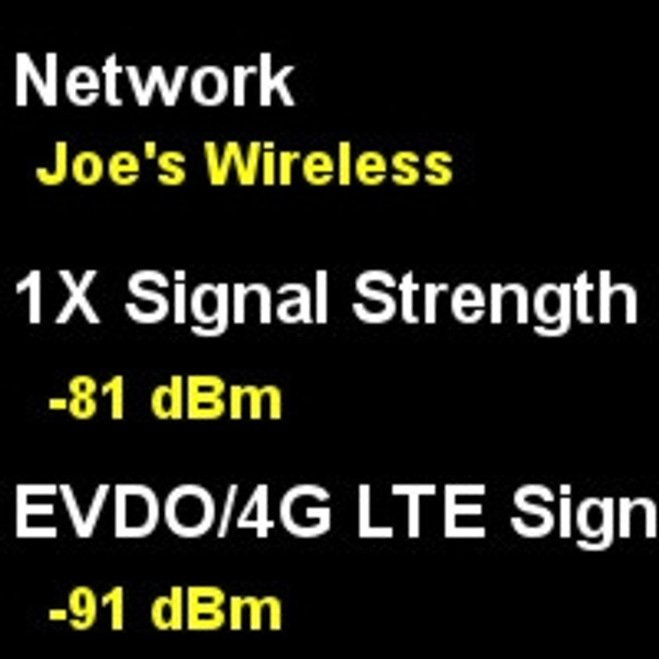 Phone Signal Strength Readings