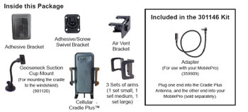 Wilson 301148 Phone Cradle Plus Cellular Antenna SMA M