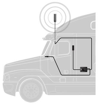 weBoost Drive X OTR Truck Signal Booster System Diagram