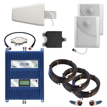WilsonPro 70 PLUS Cell Phone Signal Booster With 2 Panel Antennas