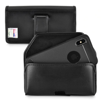 iPhone 11 Pro Max & XS Max Case Horz Leather Pouch