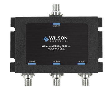 WilsonPro 3-Way Splitter 75 Ohm F Female Connector 850035