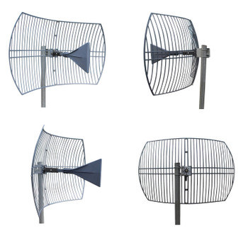 Ultra WideBand Parabolic Grid Antenna 600-6500MHz 3G/4G/5G N F