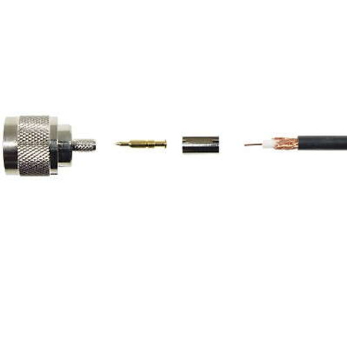Mini-UHF Male Connector Fits RG-58 Cable
