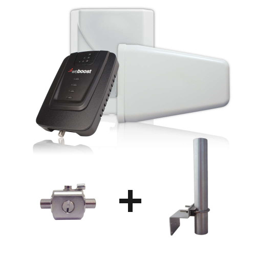weBoost Connect 4G Building Signal Booster With Surge Protector and Antenna Mount