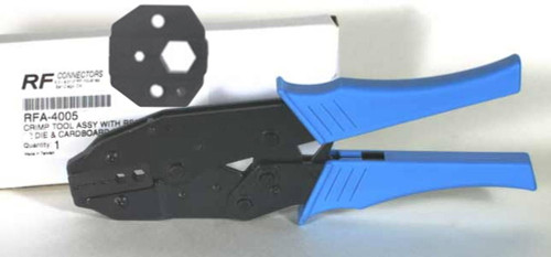 RF Industries Connector Crimping Tool With LMR-400 / 9913 Cable Die