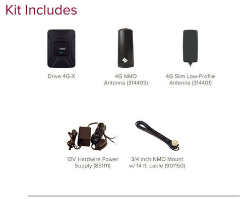 weBoost Drive 4G-X Fleet System Package Contents