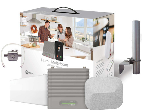 weBoost Home MultiRoom Signal Booster System With Antenna Pole and Surge Protector