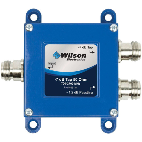 Wilson Tap -7 dB Tap with -1.2 dB Pass-Thru 50 Ohm N-F 859114
