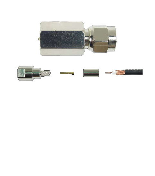 FME Male Crimp-On Connector For RG-58 Cable 971115