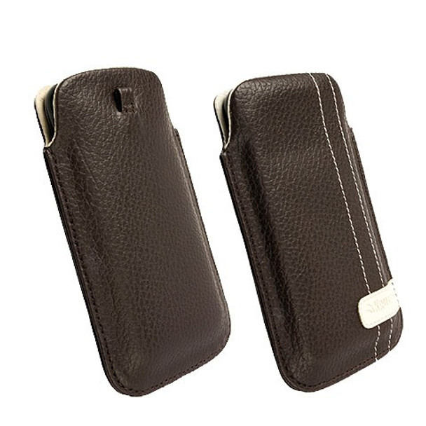 Krusell GAIA Mobile Phone Pouch Large Brown 95296