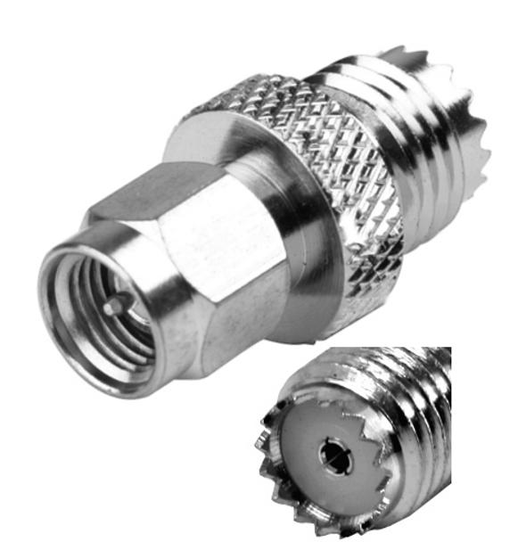SMA Male To Mini-UHF Female Adapter