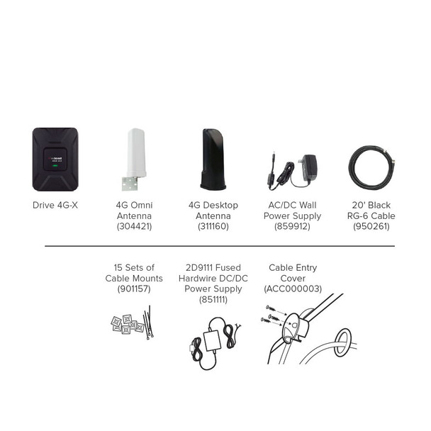 weBoost Drive 4G-X RV Package Contents