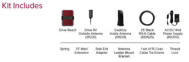 weboost drive reach-rv 470354 kit contents