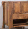 "EcoDecors Curvature 30"" Teak Wood Fully Assembled Free Standing Bathroom Vanity in EarthyTeak Finish"