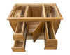 """EcoDecors Tranquility 36"""" Teak Wood Fully Assembled Free Standing Bathroom Vanity in EarthyTeak Finish"""