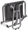 "23"" Eleganto Lunar Gray Foldaway Wall Mount handicap Shower Seat with Integrated Support Stand"