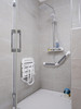 Comfortique Adjustable Height Disability Wall Mounted Foldaway Shower Chair