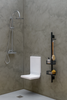 Tuck foldaway safety shower seat