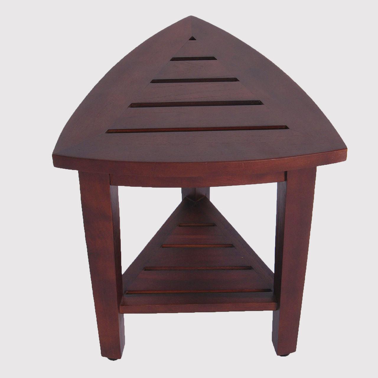 Decoteak corner shower stool DT163