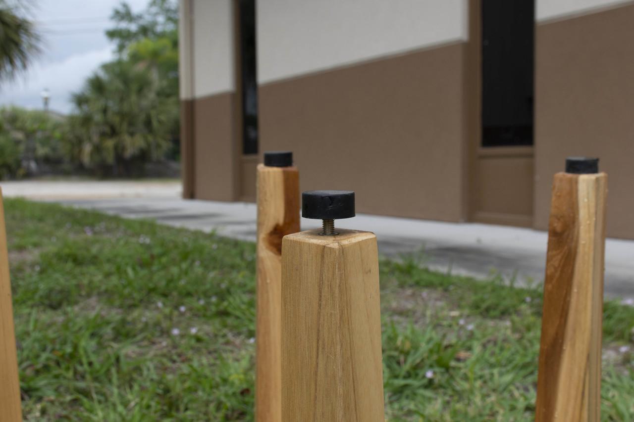 "EcoDecors SnazzyCorner 18"" Teak Wood Wide Corner Shower Bench in EarthyTeak Finish"