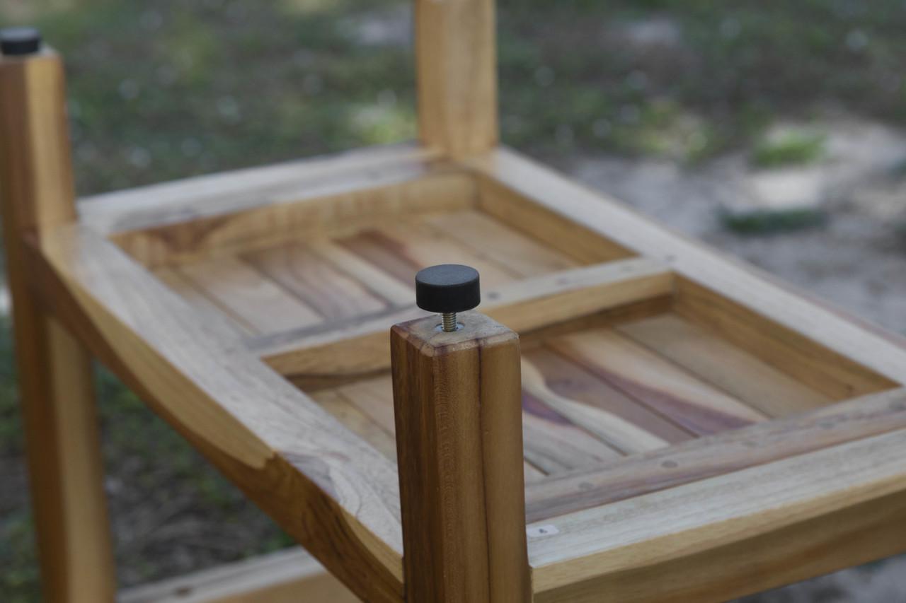 "EcoDecors Eleganto 35"" Teak Wood Shower Bench in EarthyTeak Finish"