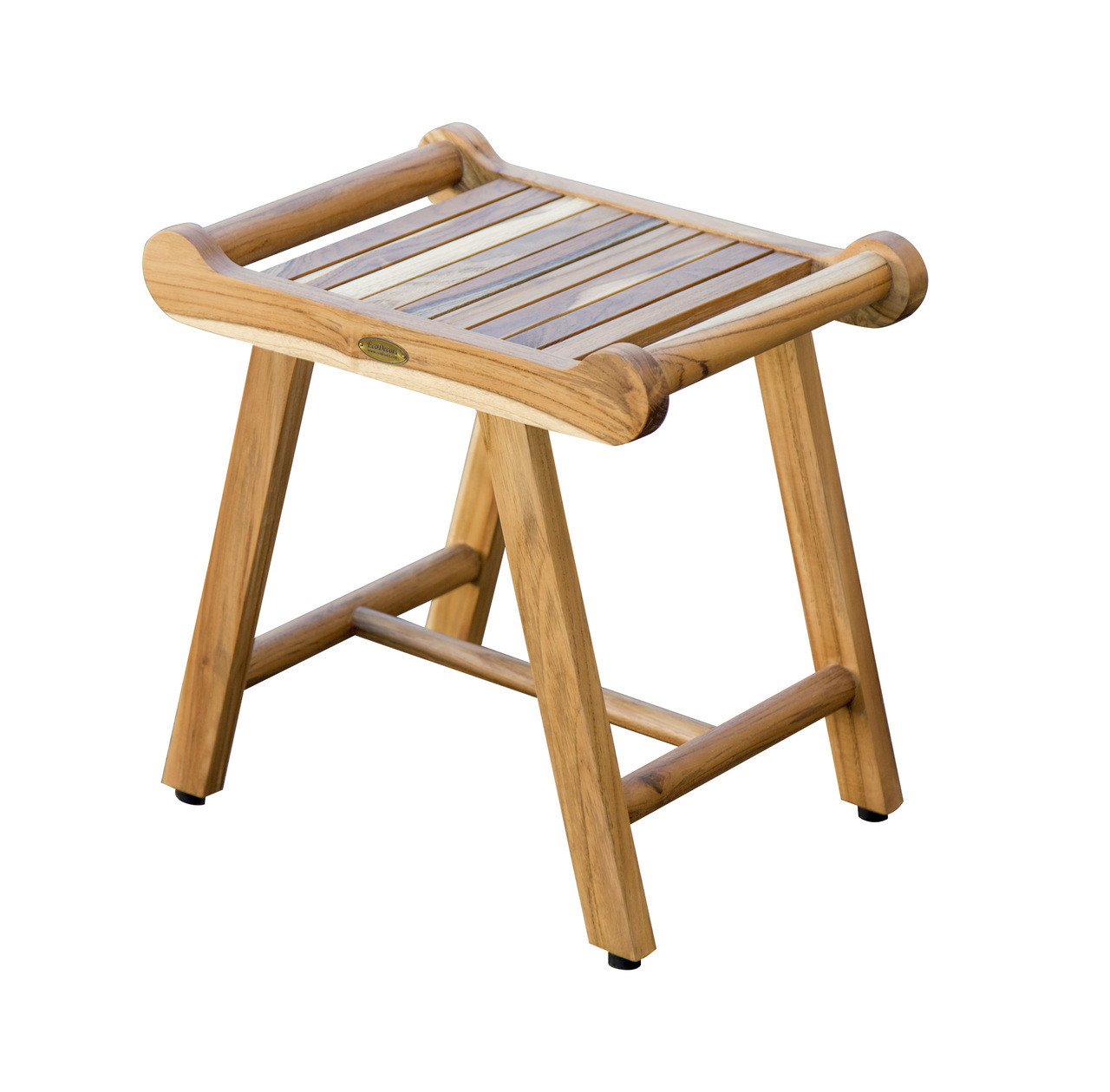Ecodecors Sensiharmony 20 Inch Teak Shower Stool Bench With Liftaide Arms