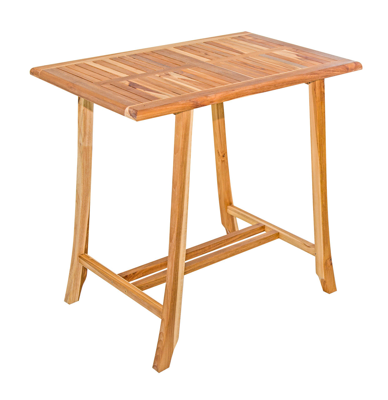 "EcoDecors Satori 35"" x 23.5"" x 34"" Teak Wood Table in EarthyTeak Finish"