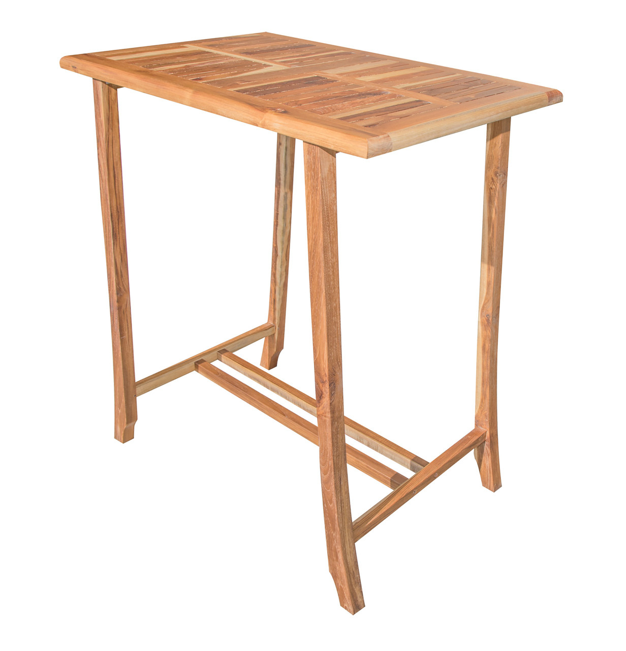 "EcoDecors Satori 35"" x 23.5"" x 40"" Teak Wood Table in EarthyTeak Finish"