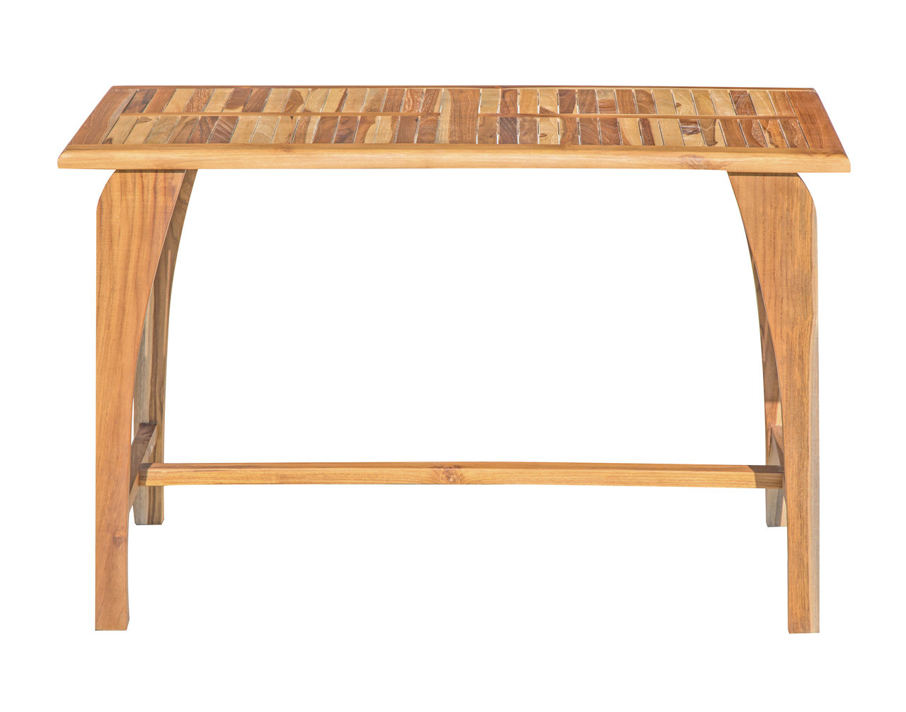 """EcoDecors Tranquility 47.25"""" x """"27.5"""" x """"30"""" Teak Wood Table in EarthyTeak Finish"""