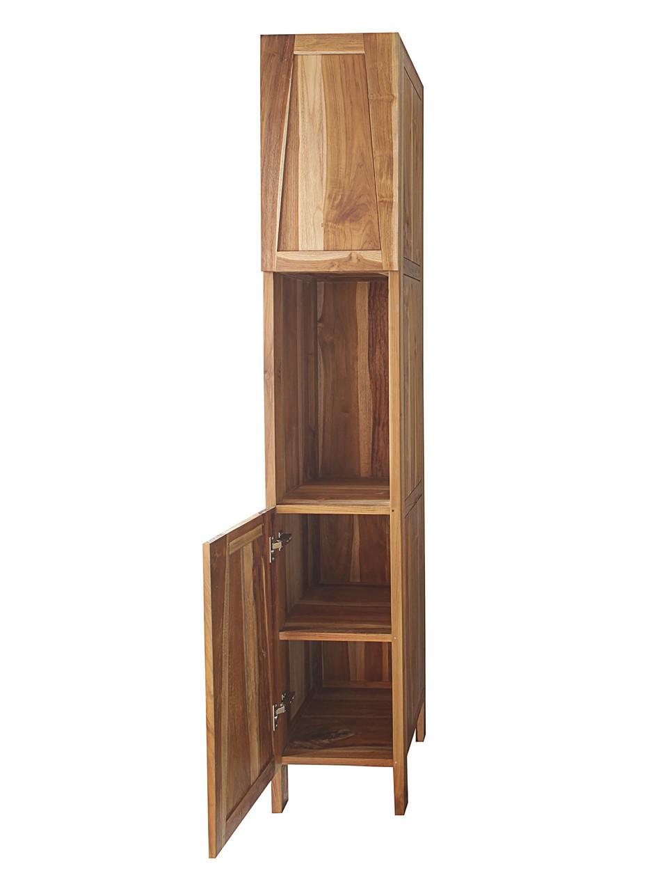 Significado™ Teak Linen Cabinet Tower Closet in Natural Teak