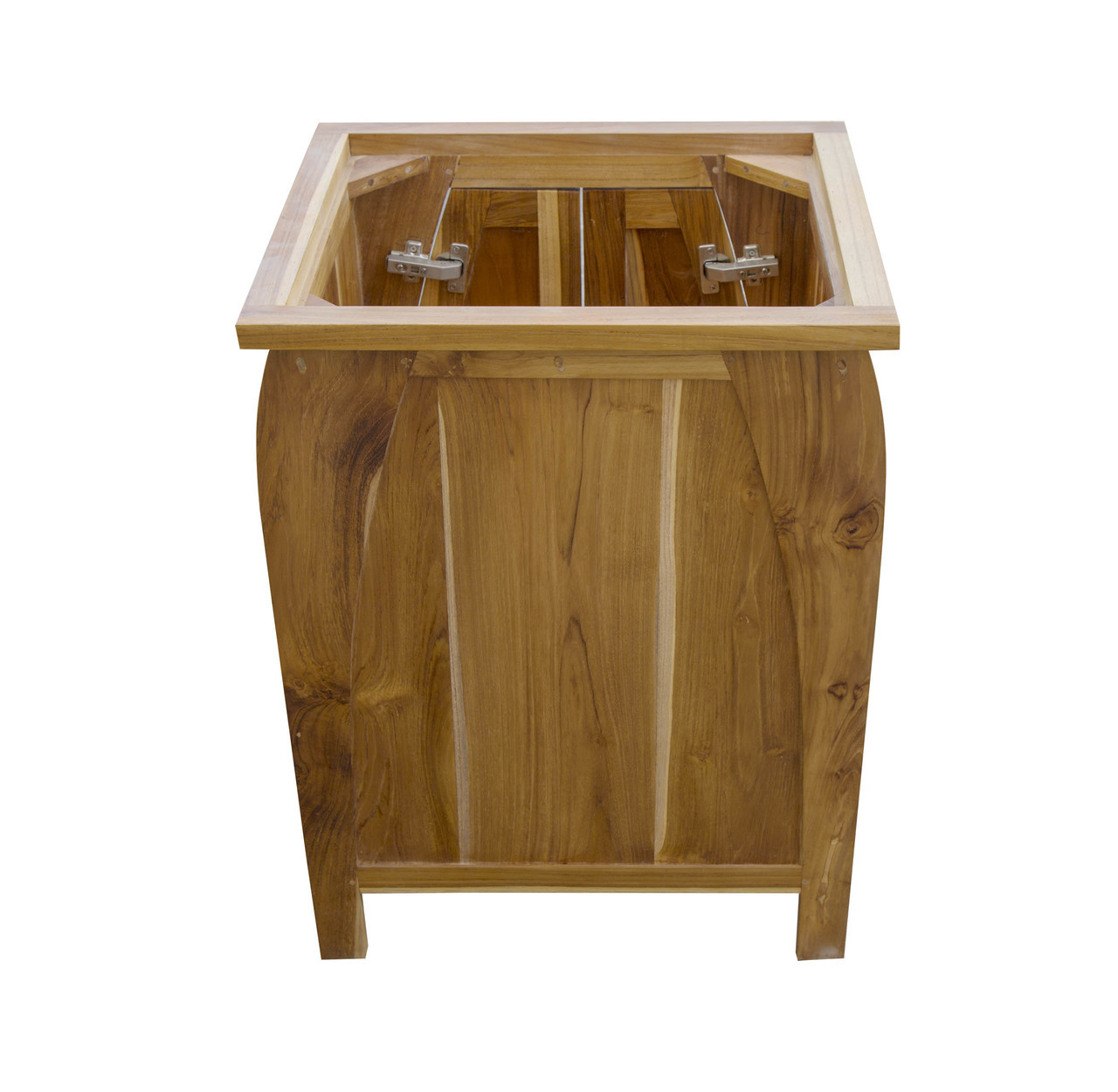 """EcoDecors Tranquility 24"""" Teak Wood Fully Assembled Free Standing Bathroom Vanity in EarthyTeak Finish"""