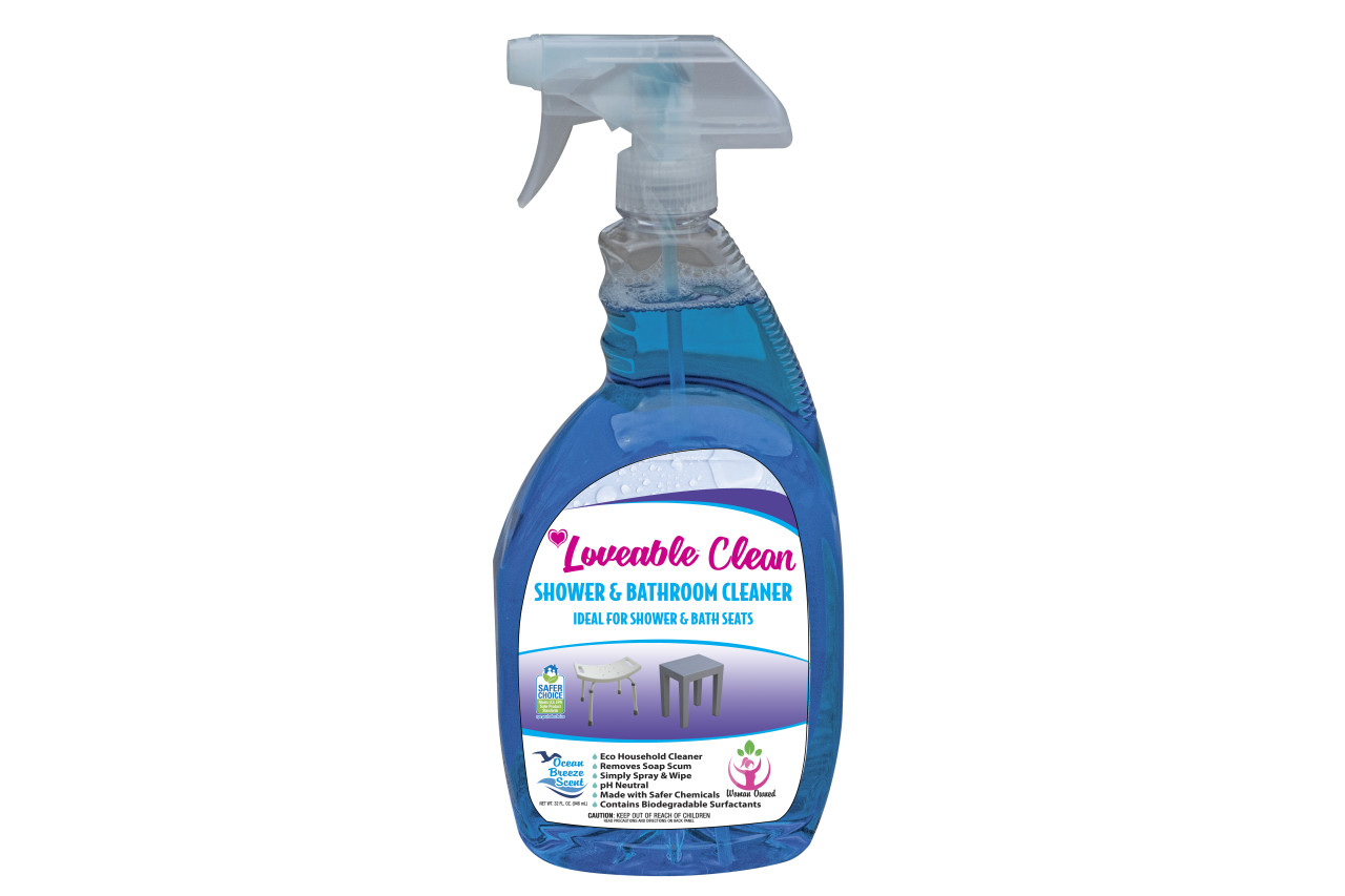 Loveable Clean EPA Safer Choice Plastic and Shower Furniture Cleaner in 32 oz. Spray Bottle