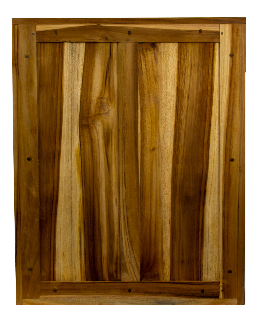 """EcoDecors Tranquility 24"""" Teak Wood Fully Assembled Wall Cabinet in EarthyTeak Finish"""