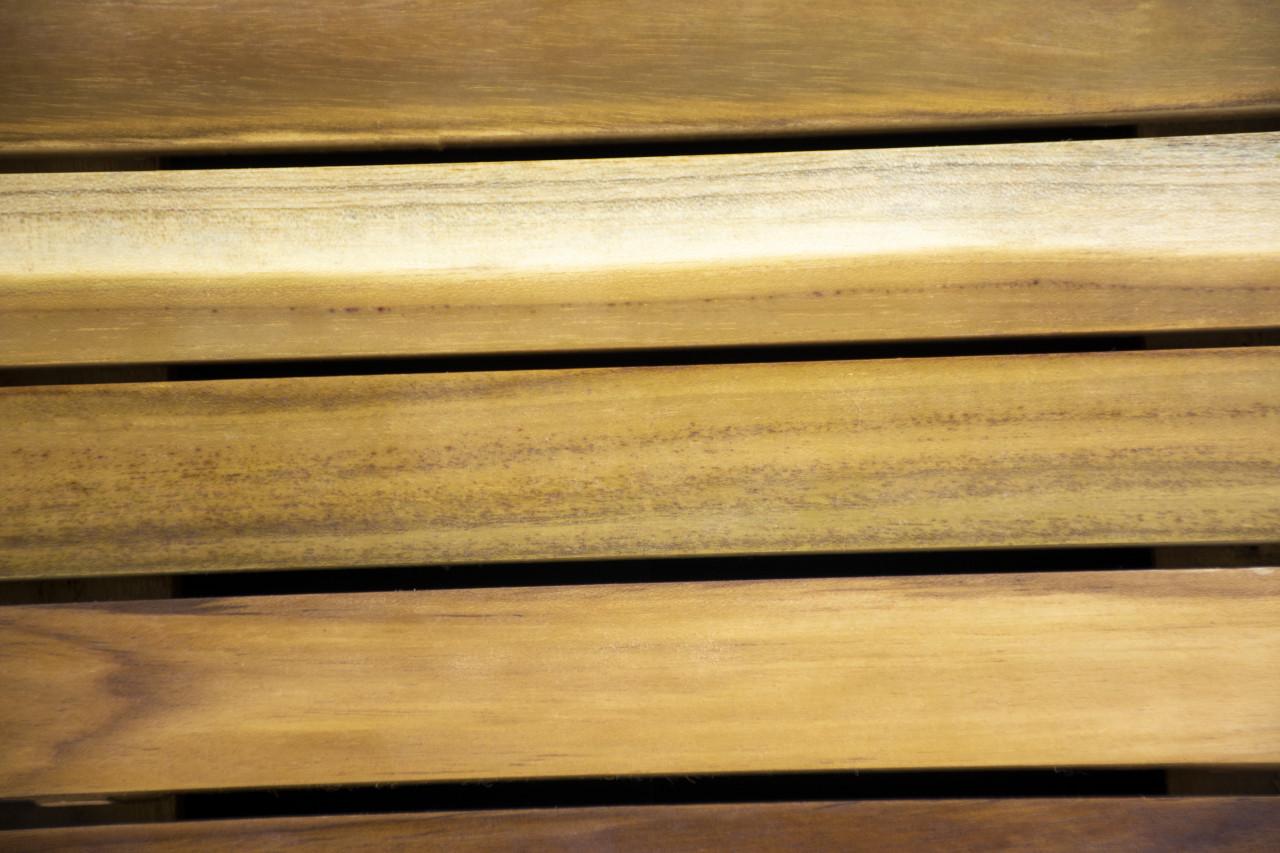 "The EcoDecors Eleganto 23"" x 15"" Slatted Solid Teak Bath Floor Mat in EarthyTeak Finish"
