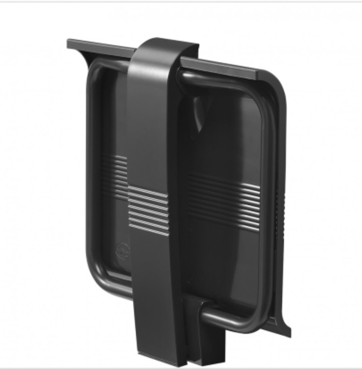 Innovato SwapAble Foldaway Wall Mount Ebony Gray Shower Chair with Hinged Weight Supporting Leg