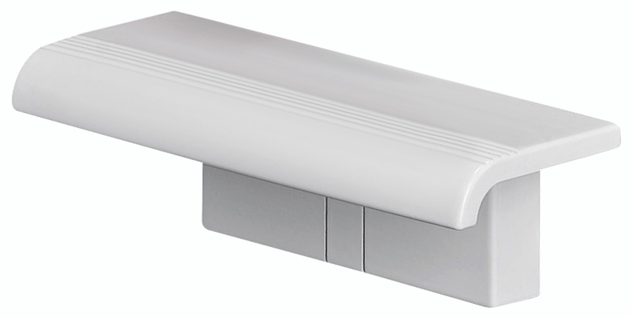 Innovato SwapAble Wall Mounted White Mini Shower Shelf- For Swapping with Foldaway Wall Mount Shower Seat
