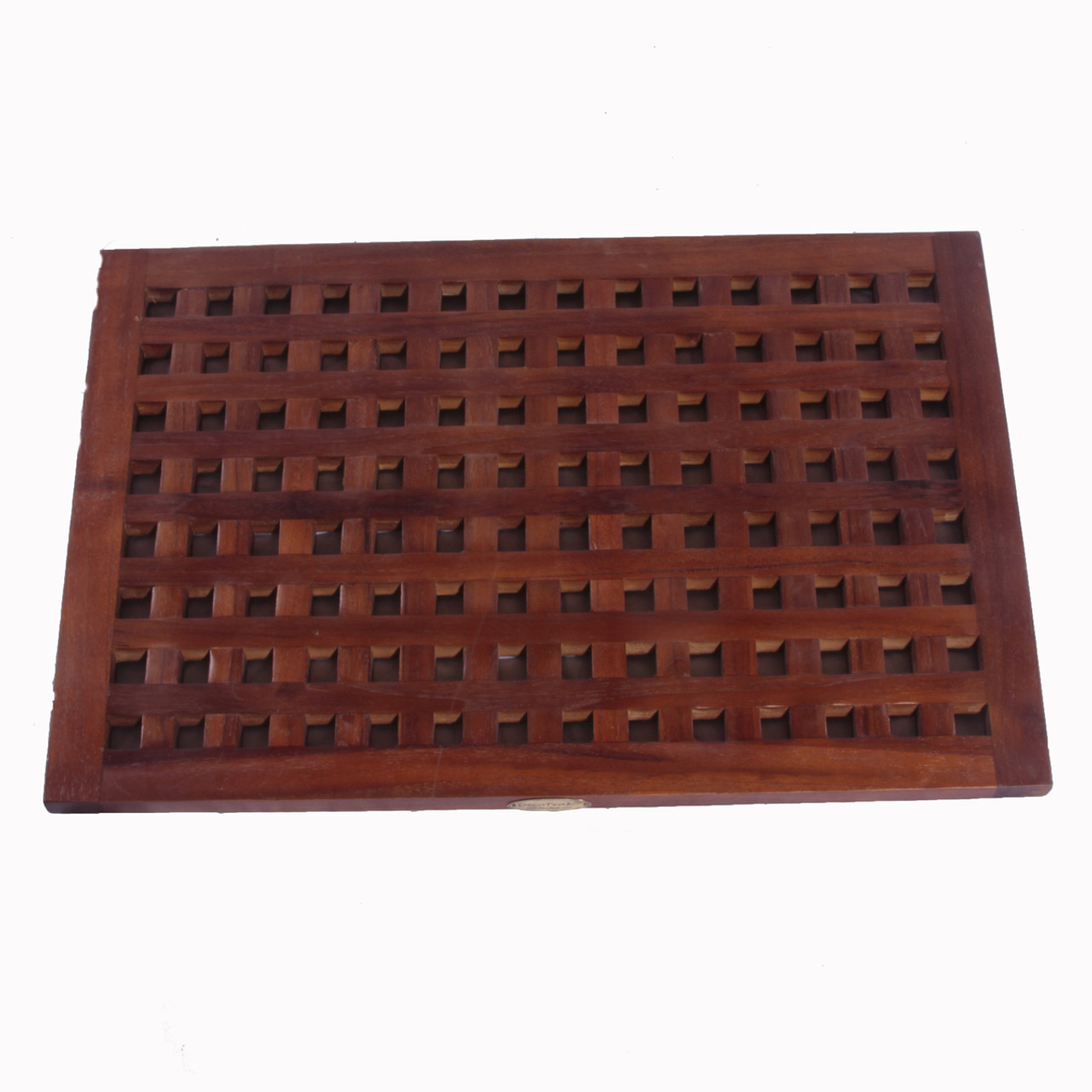 grate teak shower mat