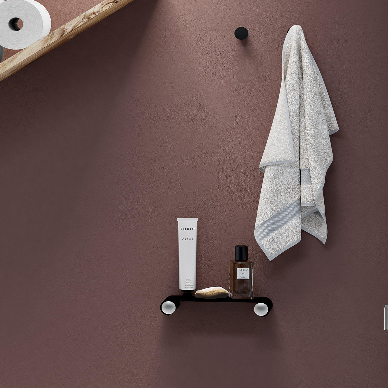 Elegancia family of Floating bath, bathroom. shower shelf