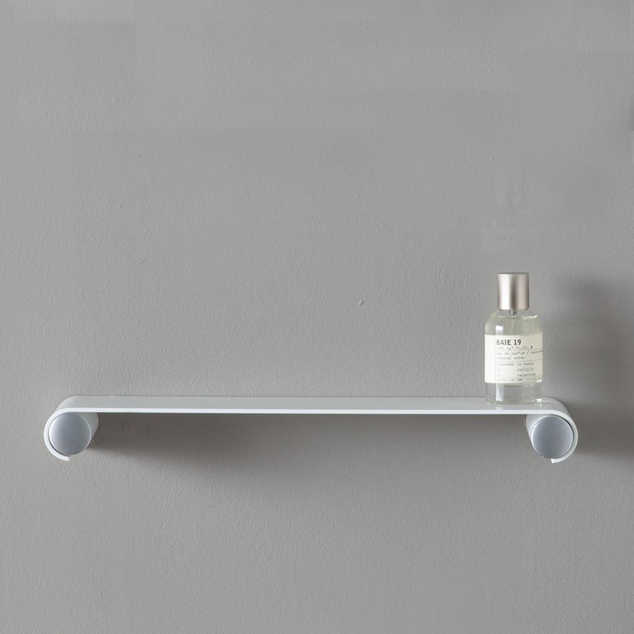 "White 10"" Floating Shower and Bathroom Shelf"