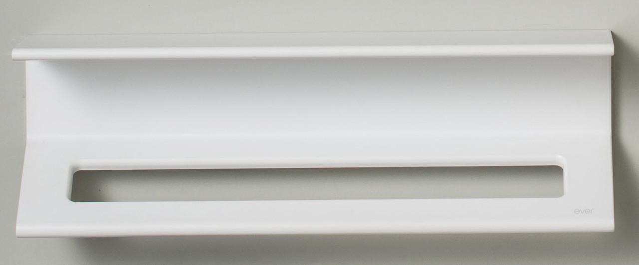 Duality™ White Hybrid™ Floating Shelf With Towel Holder & Grab Bar