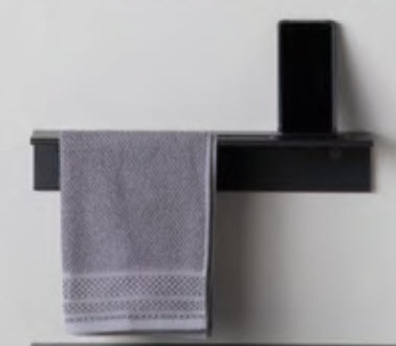 Duality™ Back Slim Line Hybrid™ Floating Shelf With Towel Holder & Grab Bar