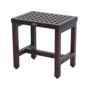 DecoTeak Espalier™ 18 inch Lattice Teak Shower Bench