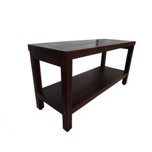 Eleganto™ 35 inch Teak Shower Bench With Shelf