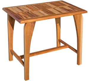 EcoDecors Tranquility™ Indoor Outdoor Teak Dining Table - 35 inch Length