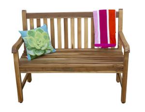 EcoDecors™ Hampstead Heath 47 inch Length  Solid Teak Outdoor Garden Bench