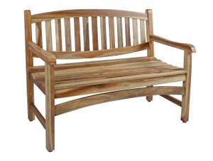 EcoDecors™ Kent Garden 47 inch Length Solid Teak Outdoor Garden Bench