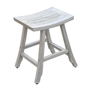 Coastal Vogue Satori™ Indoor Outdoor Teak Bistro Stool - 24 inch Height