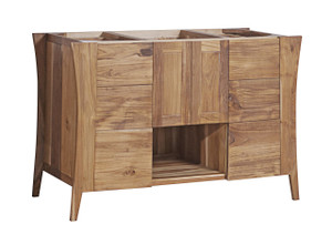 EcoDecors Curvature 48 in Teak Vanity in Natural Teak
