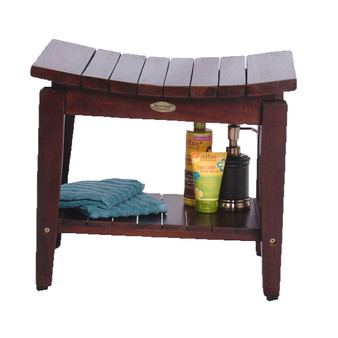 Teak Shower Bench with Shelf- DT164